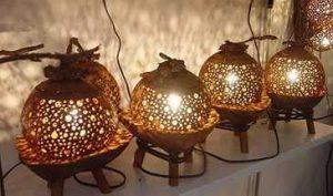 светильники из горлянки