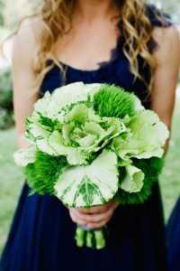 букет невесты из капусты